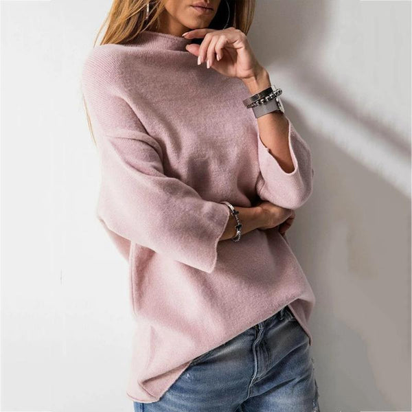 Casual Solid Color Boat Neck Sweaters