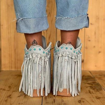New Casual Women's Tassel Ankle Boots