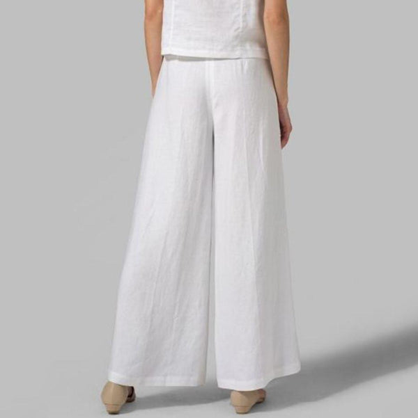 Solid Casual Loose Plain Pants