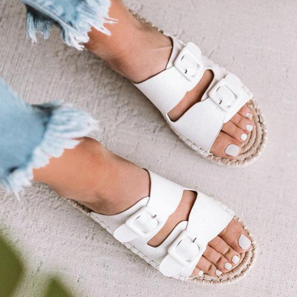 Beach Casual Espadrille Flat Slippers