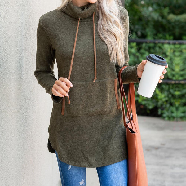 Drawstring Pocket Design Sweatershirts