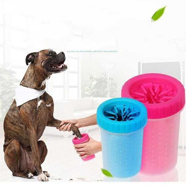 Portable Pet Foot & Hand Squeeze Washing Cleaning Cups