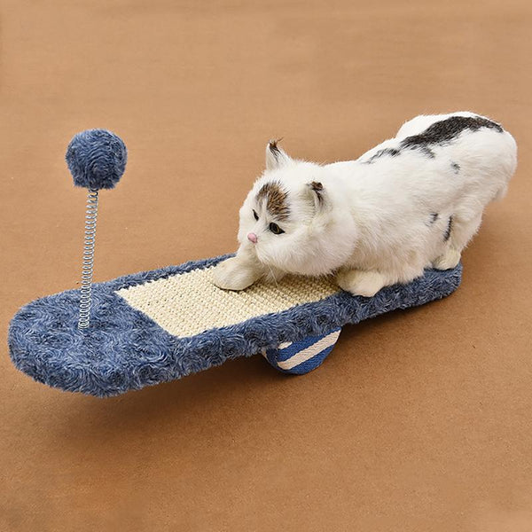 Cat Scratch Board Seesaw Pet for Grinding Paws Toy