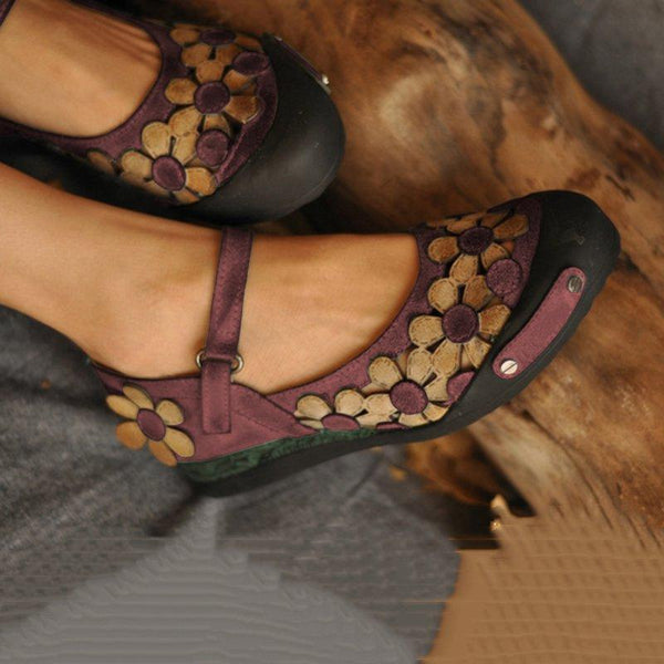 Vintage Suede Daily Flat Heel Flats