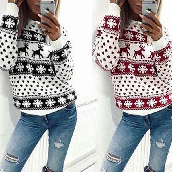 Christmas Long-sleeved Deer Sweater