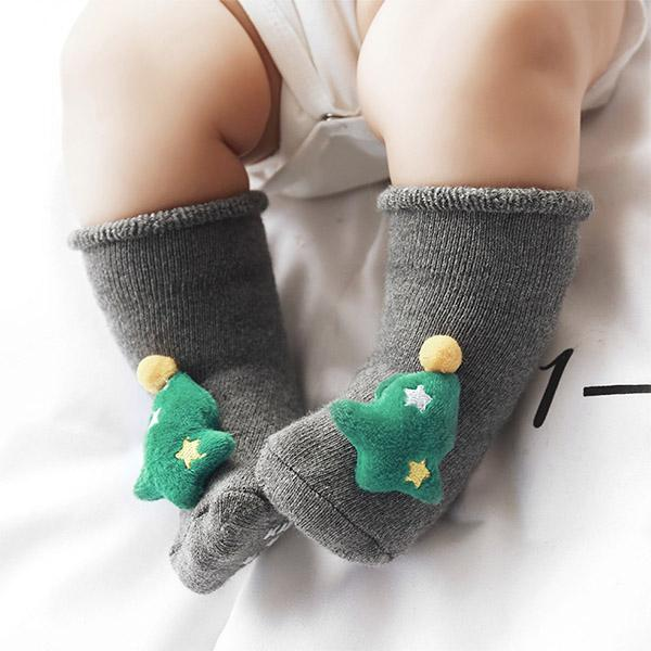 3 Pairs Autumn Winter Baby Socks Boy Girl Socks Cotton Floor Socks Christmas Gift