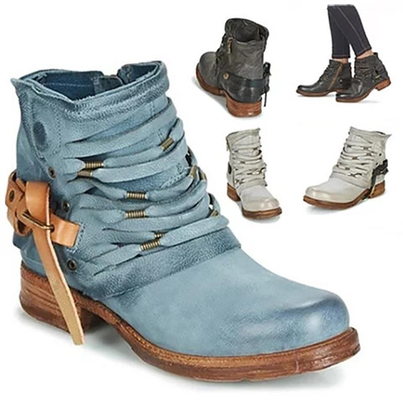 Fashion Women's Buckle Hollow Ankle Boots