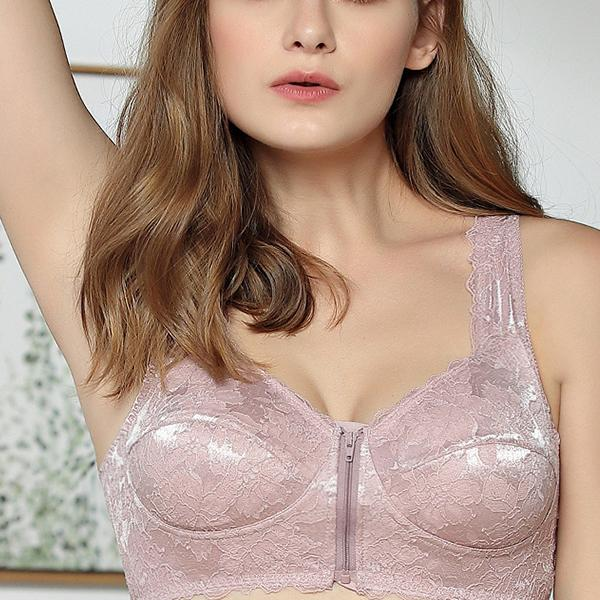 Full Cup Front Closure Lace Wireless Bras