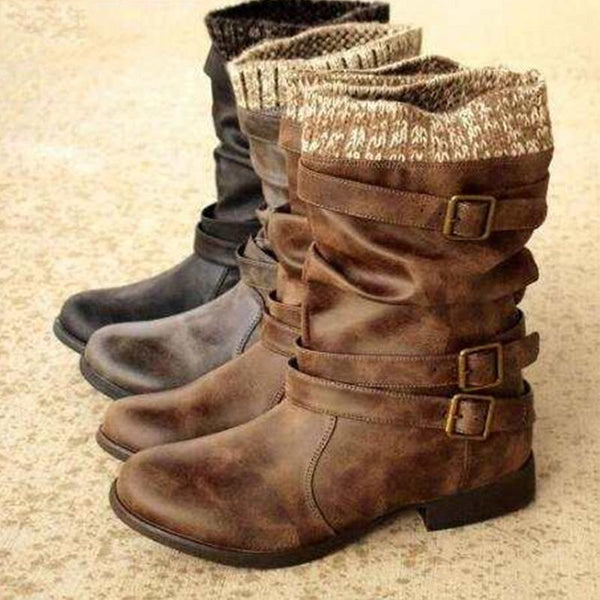 Mid-boot Women's Round Head Martin Boots
