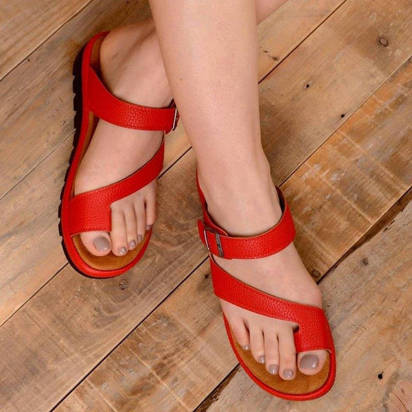 Large Size Women Casual Comfy Clip Toe Buckle Slip On Sandals