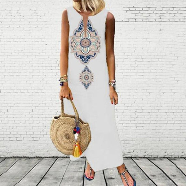 Bohemian Tribal Print Maxi Plus Size Dresses