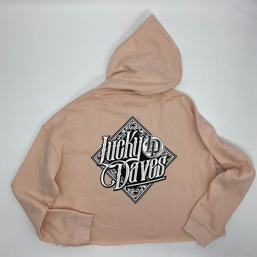 Lucky Daves Diamond Crop Hooded Pullover
