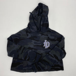 Lucky Daves Chain Crop Hooded Pullover