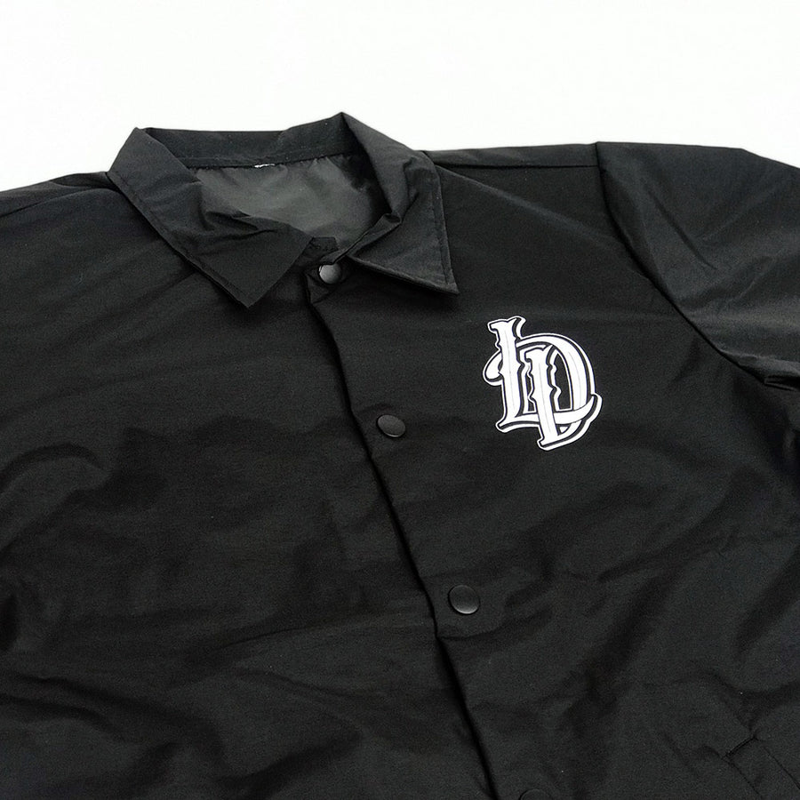 Black Button up Windbreaker