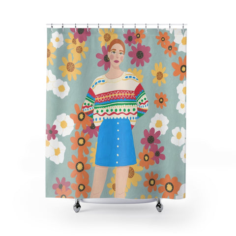 Shower Curtains by Happy Mouse Studio
