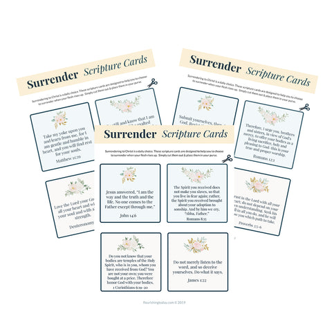 Surrender Scripture Cards