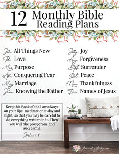 Subscriber Bible Reading Plan