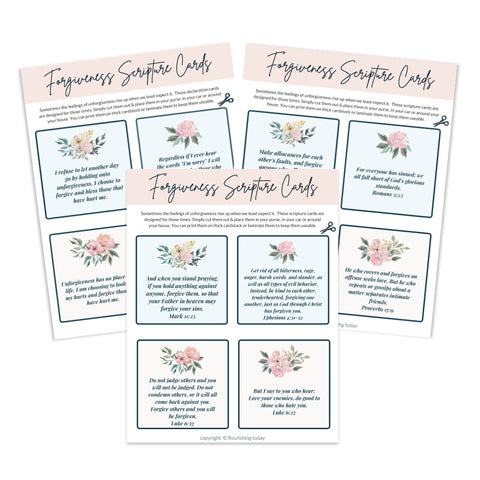 Forgiveness Scripture & Declaration Cards