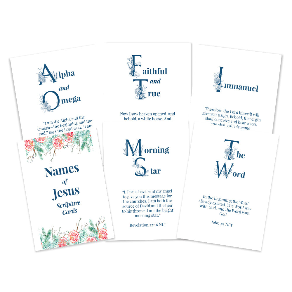 Names of Jesus Scripture Cards