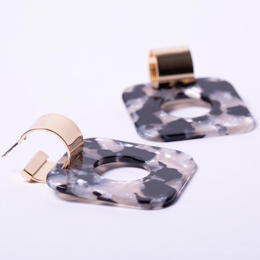 Statement Square Resin Earring
