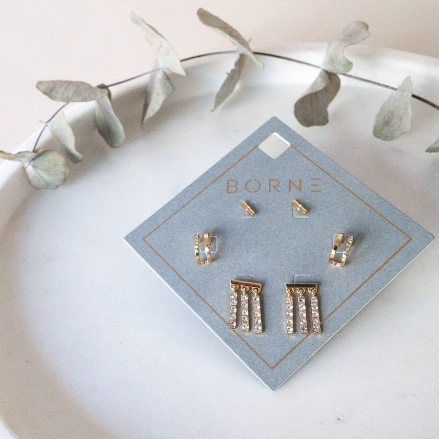 Crystal Stick Earring pack