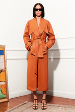 Load image into Gallery viewer, Homeless Opulence Leather Trench Coat