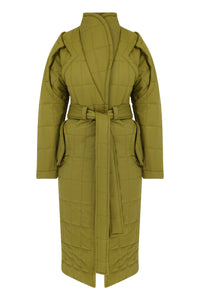Curvy Me Puffer-Olive Green