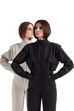 Load image into Gallery viewer, Worker Jumpsuit - Black