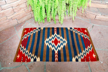 Load image into Gallery viewer, Handwoven Zapotec Indian Rug - Crown King Wool Oaxacan Textile