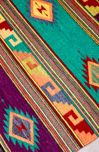 Handwoven Zapotec Indian Rug - Istmo Wool Oaxacan Textile