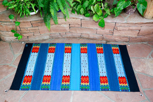 Handwoven Zapotec Indian Rug - La Playa Wool Oaxacan Textile