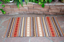 Load image into Gallery viewer, Handwoven Zapotec Indian Rug - Montanitas Meli Wool Oaxacan Textile