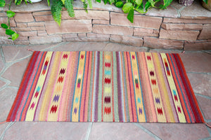 Handwoven Zapotec Indian Rug - Rodeo Wool Oaxacan Textile