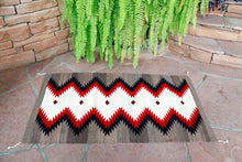 Load image into Gallery viewer, Handwoven Zapotec Indian Rug - Runing Water Wool Oaxacan Textile