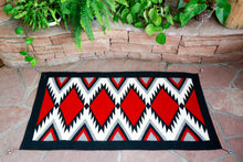 Load image into Gallery viewer, Handwoven Zapotec Indian Rug - Zapotec Diamond Wool Oaxacan Textile