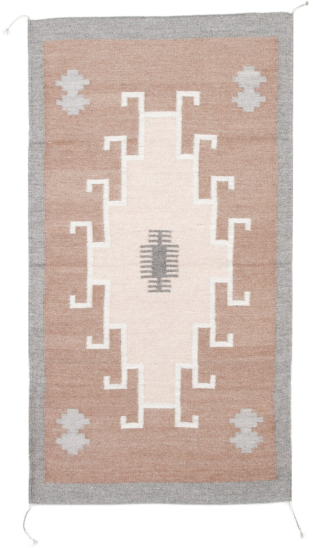 Handwoven Zapotec Rug - 1920s Lincoln Natural Wool Textile