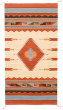 Load image into Gallery viewer, Handwoven Zapotec Indian Rug - Diamantes y Maguey Wool Oaxacan Textile