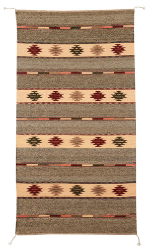 Handwoven Zapotec Indian Rug - Diamantina Wool Oaxacan Textile