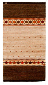Handwoven Zapotec Indian Rug - Earth and SKy Dusk Wool Oaxacan Textile
