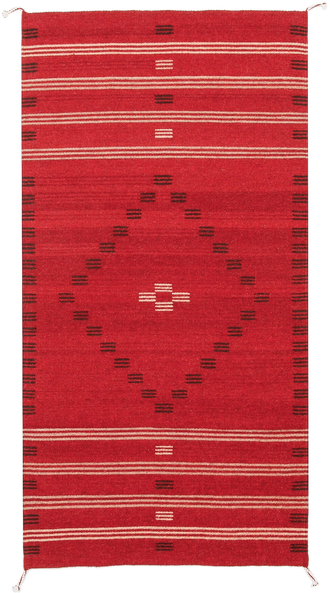 Handwoven Zapotec Indian Rug - First Mesa Wool Oaxacan Textile