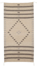 Load image into Gallery viewer, Handowven Zapotec Indian Rug - First Mesa Natural Wool Oaxacan Textile
