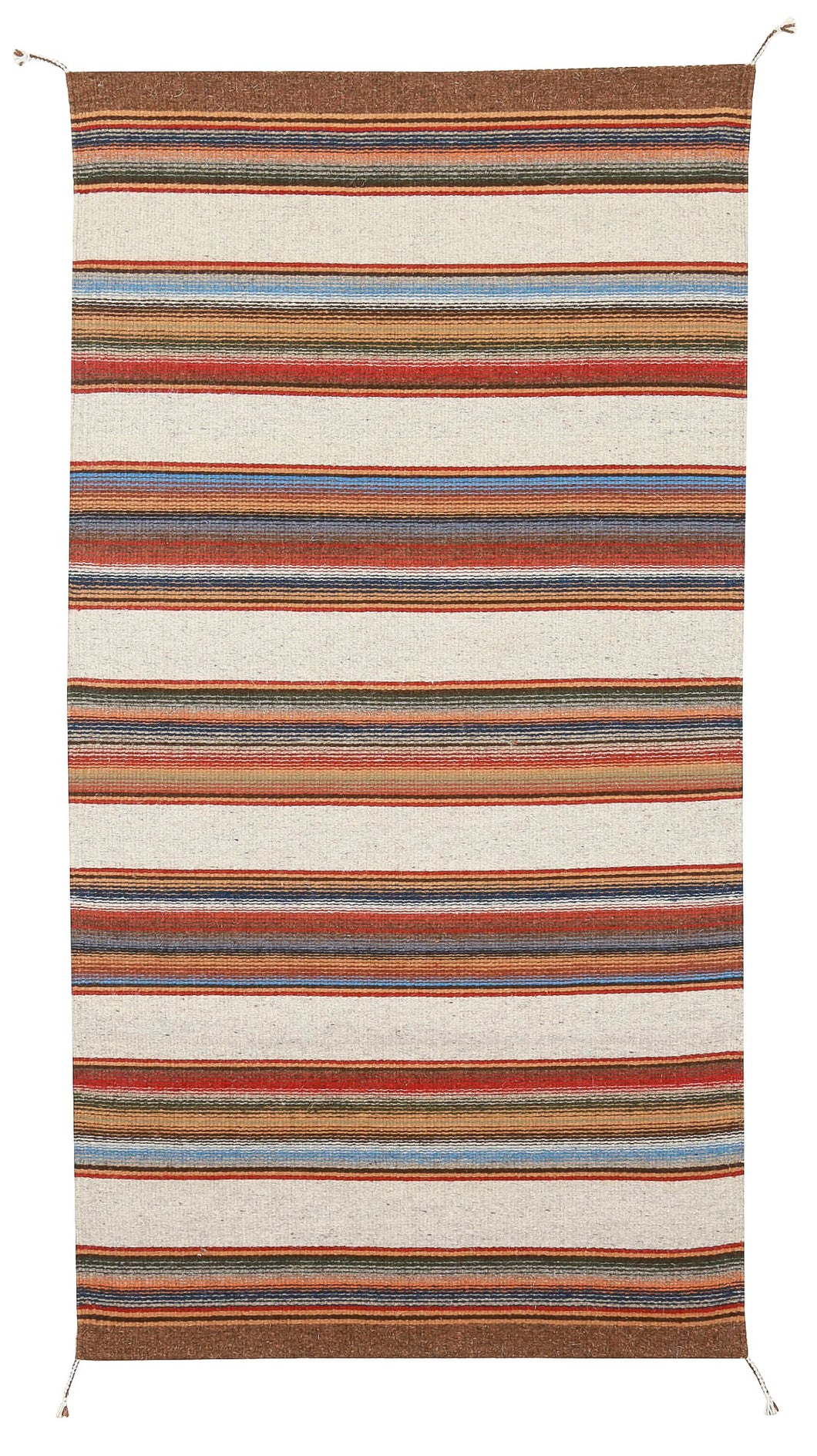 Handwoven Zapotec Indian Rug - Lawson Mesa Wool Oaxacan Textile