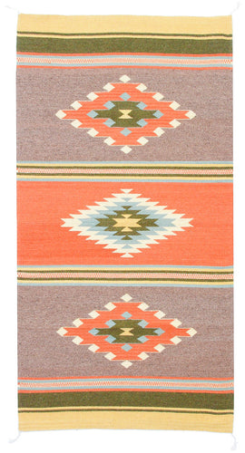 Handwoven Zapotec Indian Rug - Paradise Valley Wool Oaxacan Textile