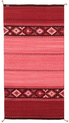 Handwoven Zapotec Wool Rug - Rosie's DIamonds Wool Oaxacan Textile