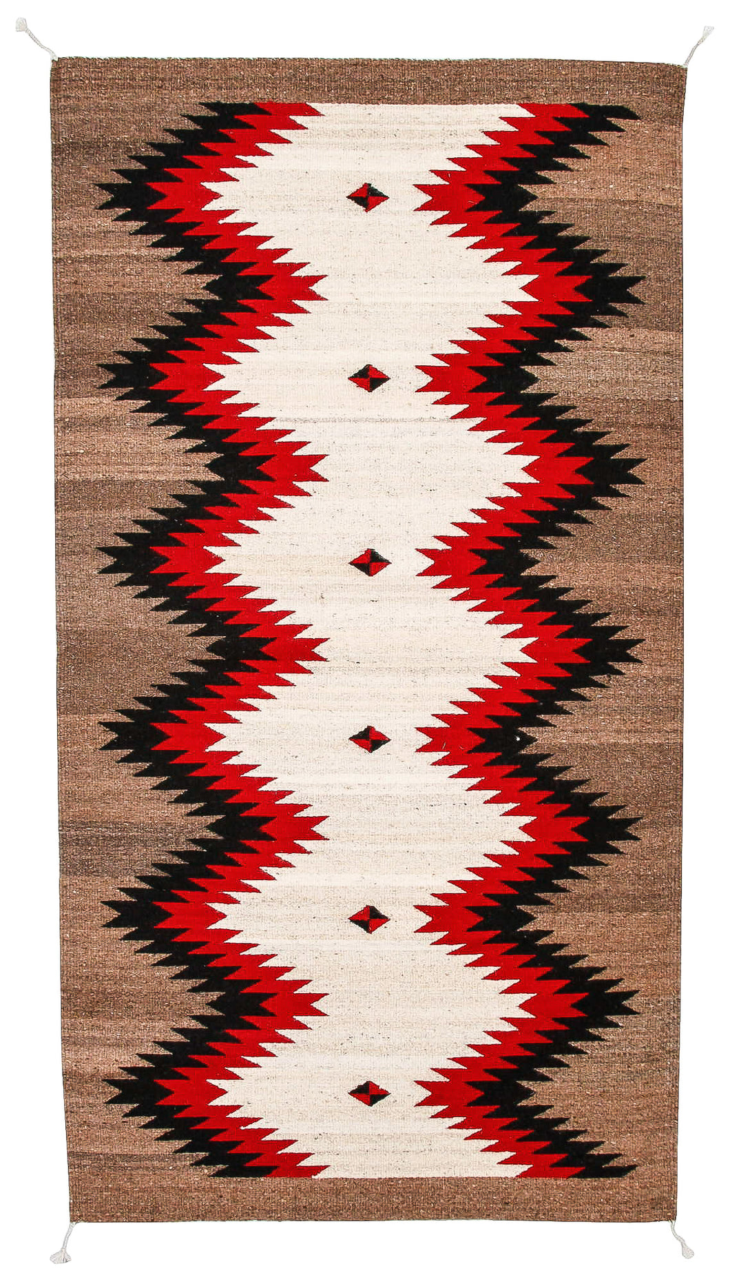 Handwoven Zapotec Indian Rug - Runing Water Wool Oaxacan Textile