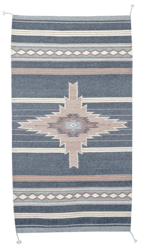 Handwoven Zapotec Indian Rug - Shining Star Wool oaxacan Textile