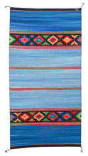 Load image into Gallery viewer, Handwoven Zapotec Indian Rug - Sunburst Wool Oaxacan Textile