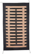 Load image into Gallery viewer, Handwoven Zapotec Indian Rug - Tetro Black Wool Oaxacan Textile