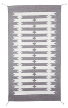 Load image into Gallery viewer, Handwoven Zapotec Indian Rug - Tetro Natural Wool Oaxacan Textile