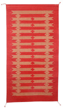 Load image into Gallery viewer, Handwoven Zapotec Indian Rug - Tetro Red Wool Oaxacan Textile